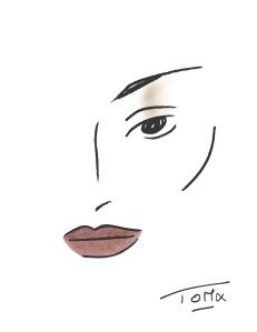 Face Chart_Derek Lam_Fall 2013