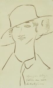Femme_au_grand_chapeau_Modigliani_1916_HD