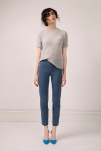Cashmere knitted tee, €180; summer cigarette pants, €200, all Lennon Courtney