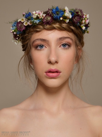 Ref: Bridal Beauty MUA: Leonard Daly Model: Abi Duffy for Morgan The Agency Flower Crown by Florist AnnaJoy O'Gorman Date: 17/07/2017 BRYAN JAMES BROPHY - PHOTOGRAPHER studio: +353 1 493 9947 mob: +353 87 246 9221 bryanjamesbrophy.com